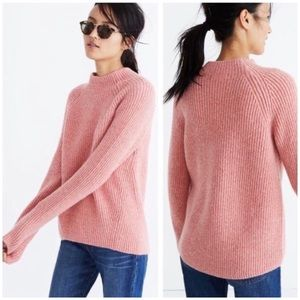 Madewell Rosy Pink Mock Neck Northfield Sweater
